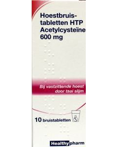 Healthypharm Acetylcysteïne Hoestbruistabletten 600mg