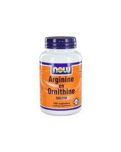 NOW Arginine & Ornithine 500/250 mg