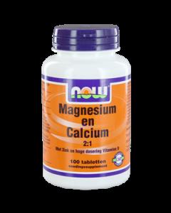 NOW Magnesium en Calcium 2:1