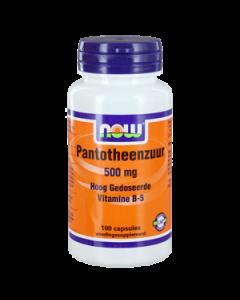 NOW Pantotheenzuur 500 mg