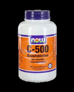 NOW Vitamine C-500 Kauwtabletten Sinaasappel